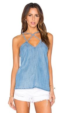 Haze Cut Out Tank in Chambray