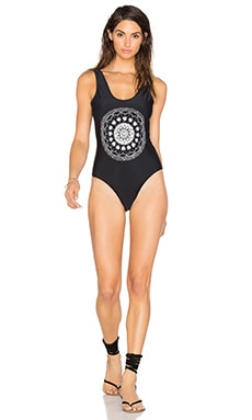 Skull Mandala One Piece in Black