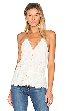 Eloise Lace Tank in Ecru