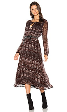 Fleur Midi Dress in Dark Autumn Folklore