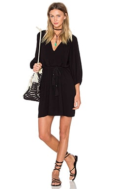 Thalia Dress in Black Linen