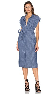 Tanya Dress in El Paso Denim Stripe