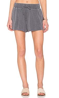 Slub Spandex Shorts in Pigment Charcoal