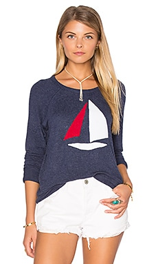 Sailboat Pullover in Navy