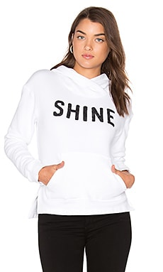 Shine Pullover Hoodie in White