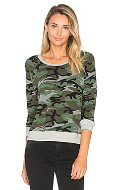 Crop Pullover in Camo