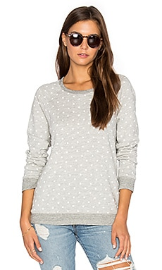 White Dots Terry Sweatshirt in Heather Grey
