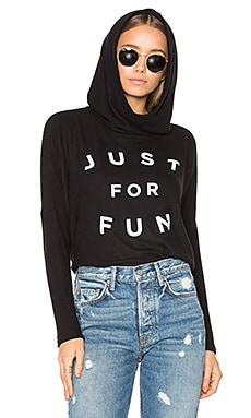 Just For Fun Pullover Hoodie in Black