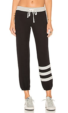 Stripes Sweatpants in Black