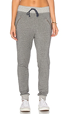 Zipper Sweatpant in Heather Grey