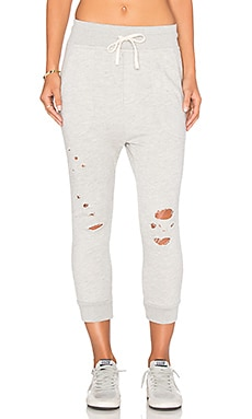 Terry Pant in Heather Grey