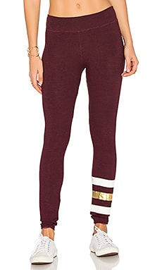 Stripes Yoga Pant in Heather Merlot