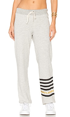 Stripe Sweatpant in Heather Grey