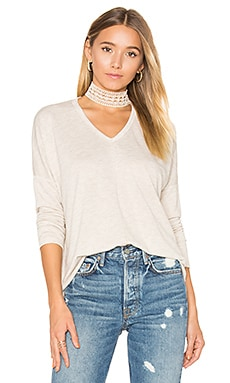 Terry Long Sleeve in Top in Heather Oatmeal