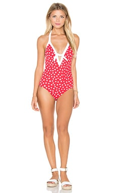 Spot On Deep V One Piece in Chilli Red