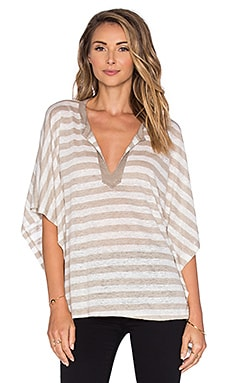 Cobey Dolman Top in Tan Stripe