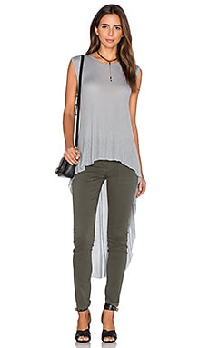 Stasha Side Slit Tank in Heather Grey