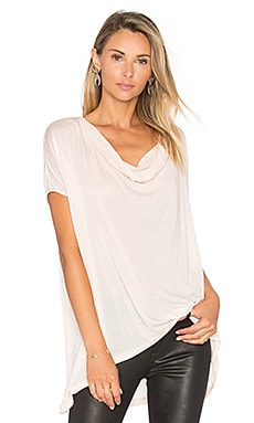 Rayna Open Back Tee in Blush