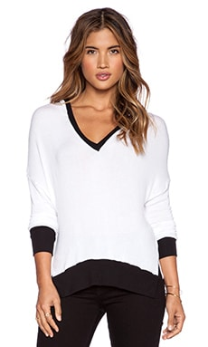 Conner Top in White & Black