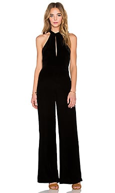 Velvet Jumpsuit in Black