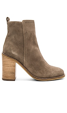 Lounge Booties in Taupe Suede