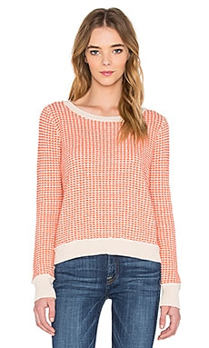 Stitch Pullover Sweater in Tea Rose & Orange Combo