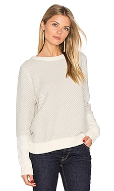 Dot Crew Neck Sweater in Off White