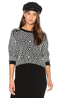 Zig Zag Sweater in Black Combo