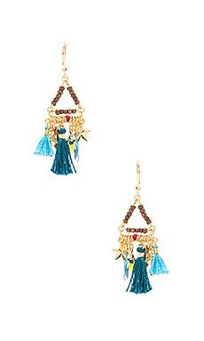 Lilu Charm Earrings in Pyrite