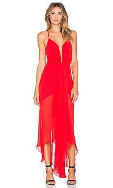 The Conquest Waterfall Dress in Red