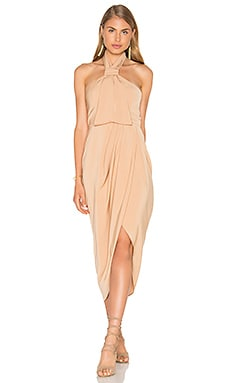 Knot Draped Dress in Tan