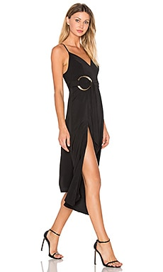 Voltaire Rings Cocktail Dress in Black