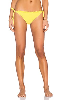 Ruffle String Bikini Bottom in Sunflower Yellow