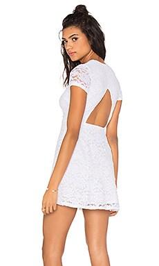 Ibiza Dress in Larose Lace White