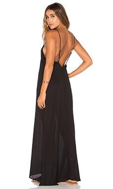 Montecito Dress in Black Cloud