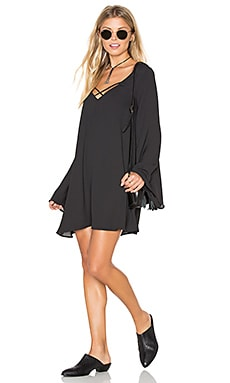 Joni Flow Dress in Black Crisp
