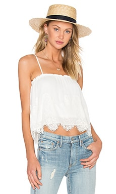 Abby Grace Top in Ivory & Cream Lace