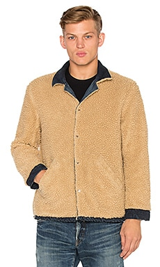 M701 Asahi Jacket with Faux Sherpa Lining in Natural