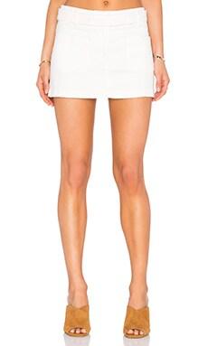 Addison Mini Skirt in Cream