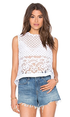 Pam Snap Back Crop Tank in White