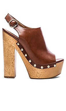 Slingshot Heel in Cognac Leather