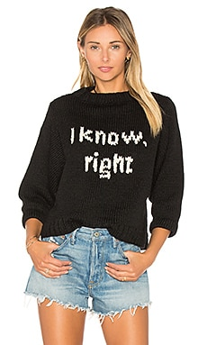 I Know Sweater in Black & Ivory