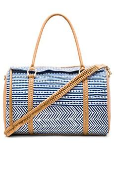 Jocelyn Duffle Bag in Desert & Indigo Print