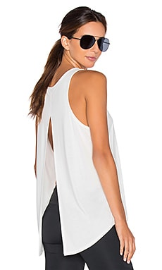 Split Lounge Tank in White
