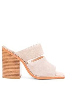 Dice Mule in Taupe Suede