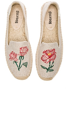 Embroidered Smoking Slipper in Sand