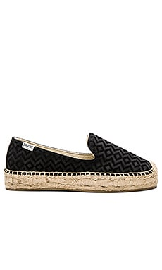 Platform Smoking Slipper in Black