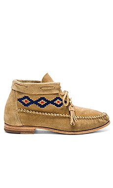 Moccasin Booties in Stone