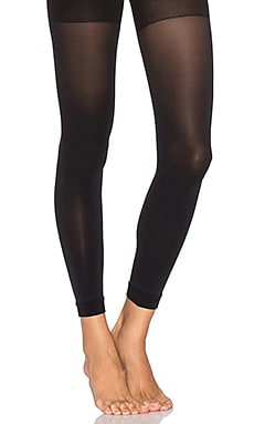 Luxe Leg Footless Tights in Very Black