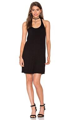2x1 Rib Tank Dress in Black